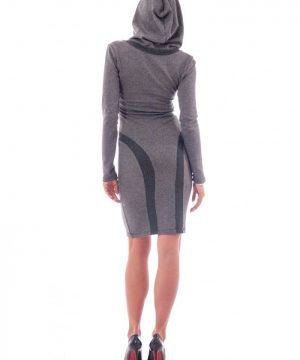hoodie dress gray