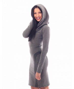Hoodie dress grey