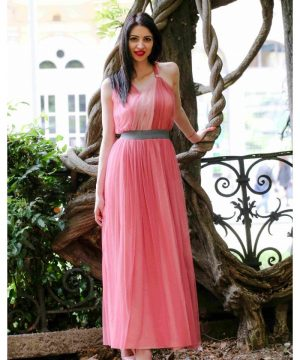 Long Pink Dress 3