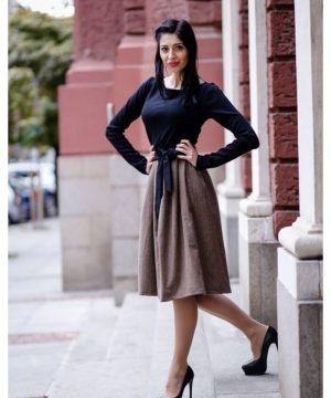 Winter wool dress 2