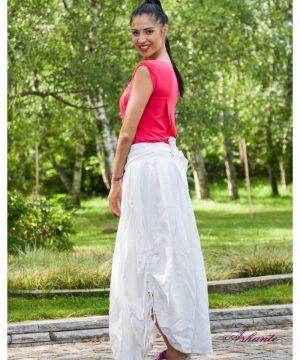 symmetrical Linen Skirt 2