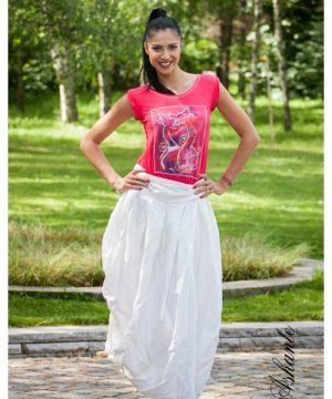 symmetrical Linen Skirt 3