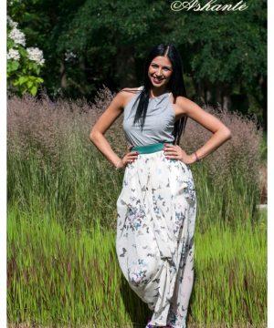 Butterfly Cotton And Chiffon Dress 1
