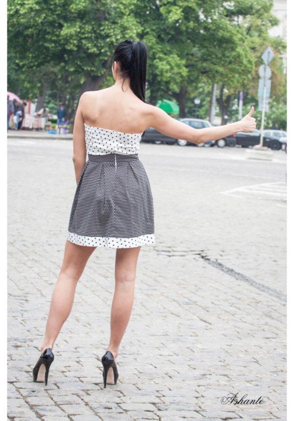Cocktail Dress Of Elastic Cotton 1