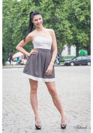 Cocktail Dress Of Elastic Cotton 3