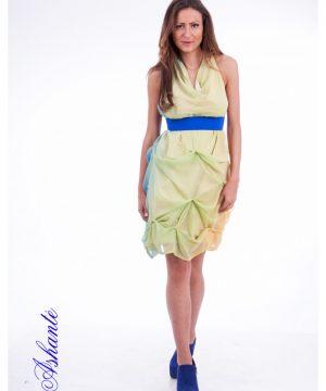 Colored Chiffon Dress 2