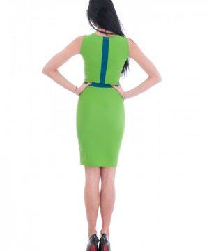 Green summer dress 1