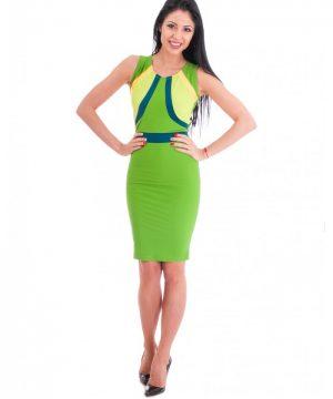 Green summer dress 2