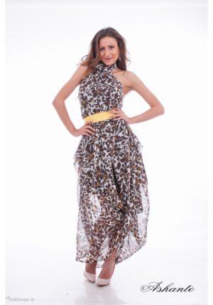 Linen off shoulder dress 2