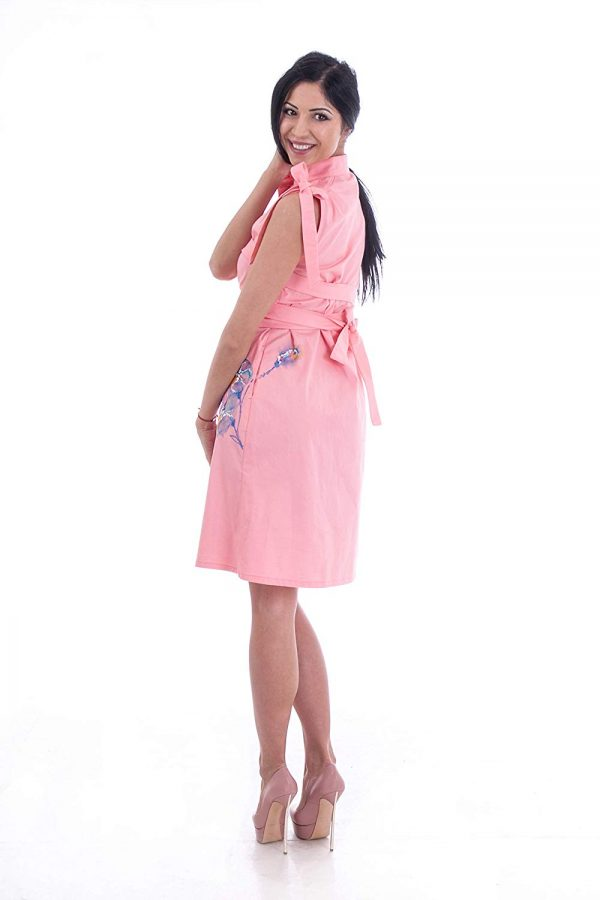 Pink painted dress 4