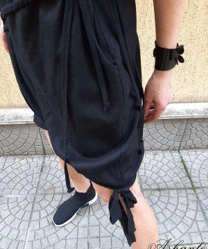 black-summer-linen-dress