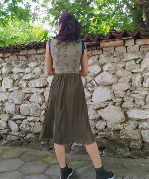 Summer light dress with midi length (3)