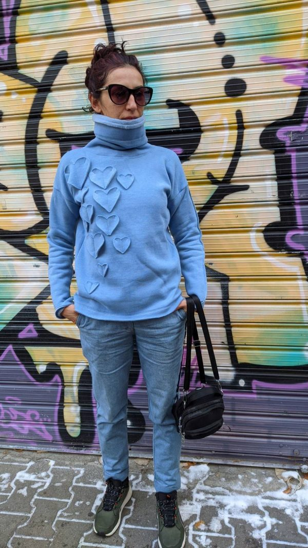 High polo neck sweaters, Quilted
