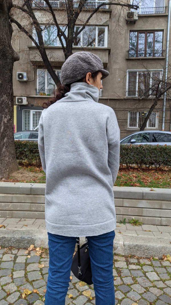 Warm blouse sweater
