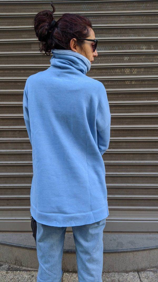 Warm blouse sweater blue