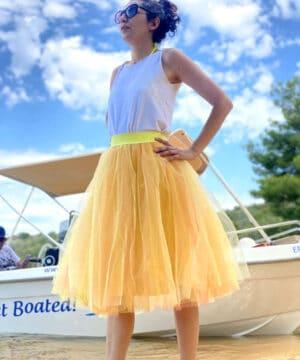 Жълта тюлена пола
